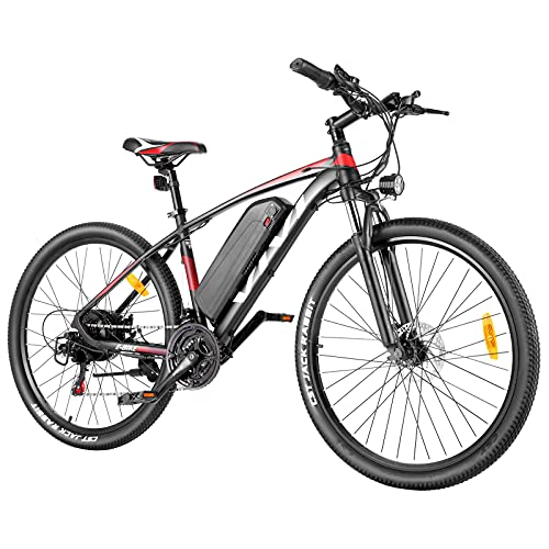VIVI Ebike Mountainbike, 26/27,5 Zoll Pedelec Elektrofahrrad, 350W E Bike Herren Damen E-Mountainbike Mit Herausnehmbarer 36V 10.4Ah Lithium-Batterie und Shimano 21-Gang (27,5 Zoll 10.4AH Rot)