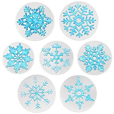 7 Pieces Silicone Snowflake Casting Molds Snowflake Jewelry Pendant Making Molds Kit Crafting Clay Molds Casting Mold Resin Mold Craft for Women Girls Necklace Home Ornament Decor