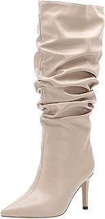 Zanpa Women Fashion Mid Boots Stiletto Heels