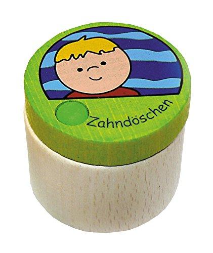Hess Holzspielzeug 14358 - Zahndose aus Holz, Junge, ca. 4 cm