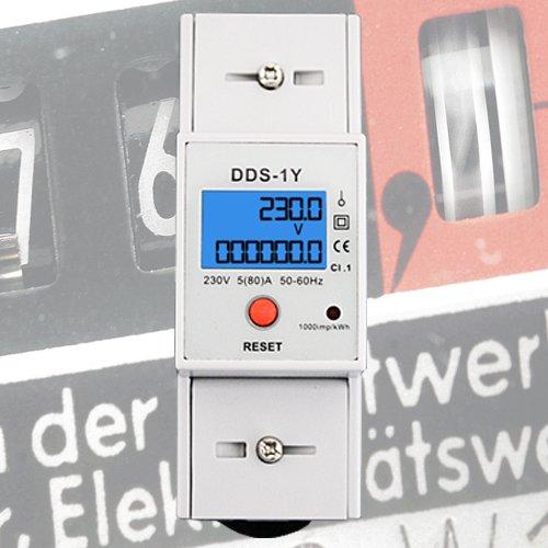 Digitaler Stromzähler Einphasen-Energiezähler DIN-Hutschiene *individuelle Anzeigemöglichkeiten* eQ3 FHEM Smart Home Homematic ZZ3