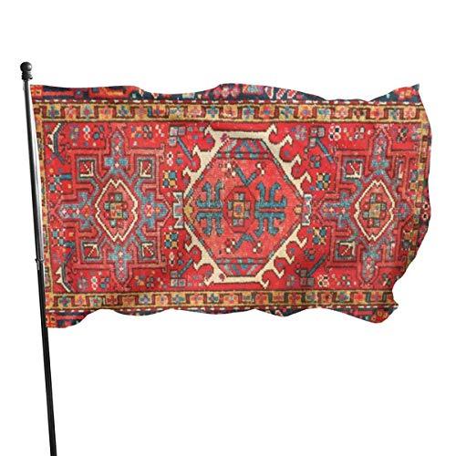 N/A American Guard Vlag Banner Welkom Vlaggen Perzische Rode Tapijten Zomer Binnen Gebruik Yard voor Alle seizoenen Huis Patio College Decoratie 3x5 Ft