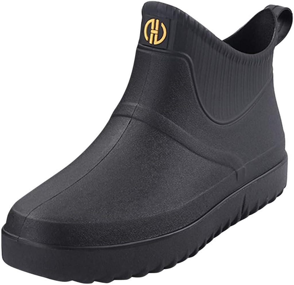 LATINDAY Men's 超安い Ankle Rain Boots Outdoor W Sport !超美品再入荷品質至上! Anti-Slip Casual