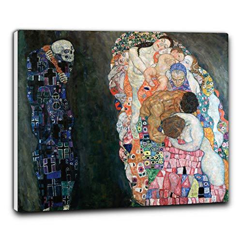 Niik Quadro + Telaio (BB) la Vita e la Morte di Gustav Klimt 60 x 52 x 1,7 cm Falso d'autore Stampa su Tela