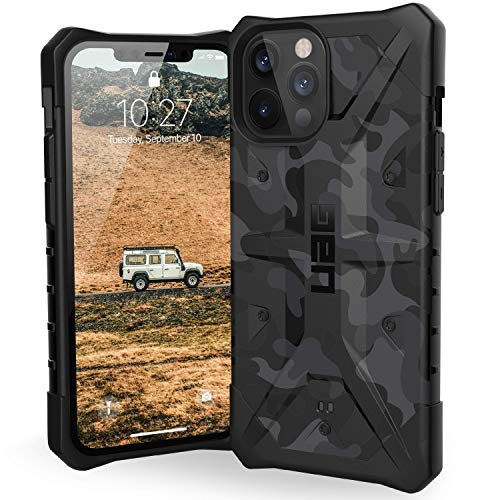 URBAN ARMOR GEAR UAG Designed for iPhone 12 Pro Max Case [6.7-inch Screen] Rugged Lightweight Slim Shockproof Pathfinder SE Protective Cover, Midnight Camo