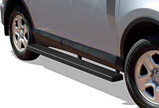 APS iBoard Running Boards 6 inches Matte Black Custom Fit 2016-2018 Toyota Rav4 (Exclude 2018 Adventure Trim) (Nerf Bars Side Steps Side Bars)