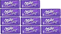 Delicious Milka Alpine Milk Chocolate. Great 10+1 Deal! Made with 100% Alpine Milk Chocolate. Imported from Europe. Note: European Expiration Date DD/MM/YYYY.
