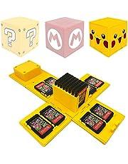 Funda de Juego - Compatible para Nintendo Switch Compatible con hasta 16 Juegos de Nintendo Switch Organizador de Tarjeta de Juego Contenedor de Viaje (Yellow Pikachu)
