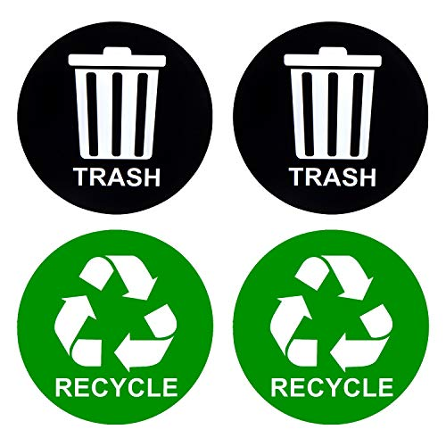 Recycle Sticker for Trash Can - Perfect Bin Labels - 5
