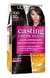 L'Oréal Paris Casting Crème Gloss Coloration Ton sur Ton pour Cheveux - Sans Ammoniaque - Noir Ebène