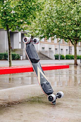 BACKFIRE G2T Electric Longboard & Hub Motor Electric Skateboard- Golden Black Grip: 23 mph Top Speed, Replaceable 83mm Wheels & 96mm Wheels Included