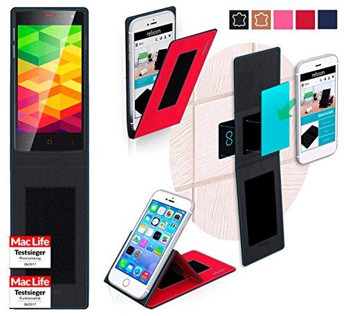 reboon Hülle für Ulefone BE X Tasche Cover Case Bumper   Rot   Testsieger