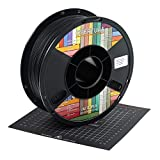OVERTURE PLA Matte Filament 1.75mm with 3D Printer Build Surface 200mm ?? 200mm, Matte Black PLA Roll 1kg Spool (2.2lbs), Dimensional Accuracy +/- 0.05 mm, Fit Most FDM Printer