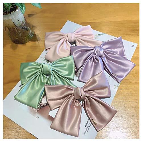 4 unids Mujeres Arco Brillante Sedoso Pelo Clips Niñas Pasadores Ponytail Headwear Cabello Verano Accesorios para el Cabello