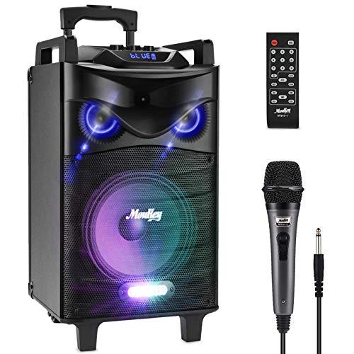 Sistema de Altavoces Karaoke Moukey Bluetooth Audio Altavoz PA Inalámbrica Portátil 120...