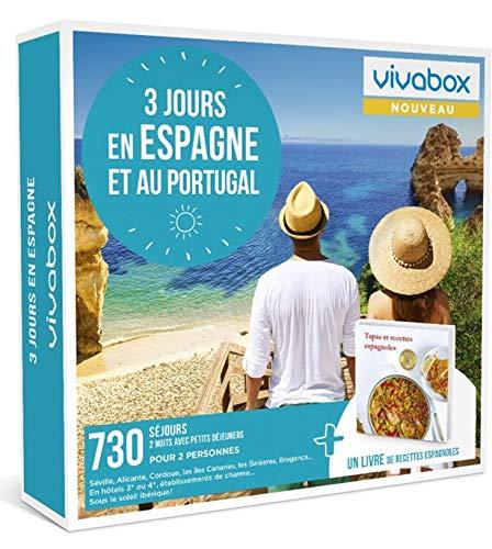 Vivabox - Coffret cadeau couple - 3 JOURS EN ESPAGNE ET AU PORTUGAL - 730 week-ends + 1 livre de recettes