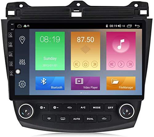 Android 10.0 Octa-Core 10 pulgadas de pantalla grande de control central de navegación del coche, adecuado para Honda Accord 03-07 Modificación de séptima generación, Carplay4 + 64G, M400