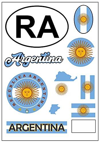 aprom Pegatina de Arco de Argentina, para coches, motos, motos, banderas de tuning