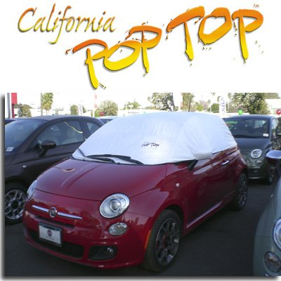 C19 - Fiat 500 DuPont Tyvek PopTop Sun Shade, Interior, Cockpit, Car Cover - SEMA SHOW NEW PRODUCT AWARD WINNER