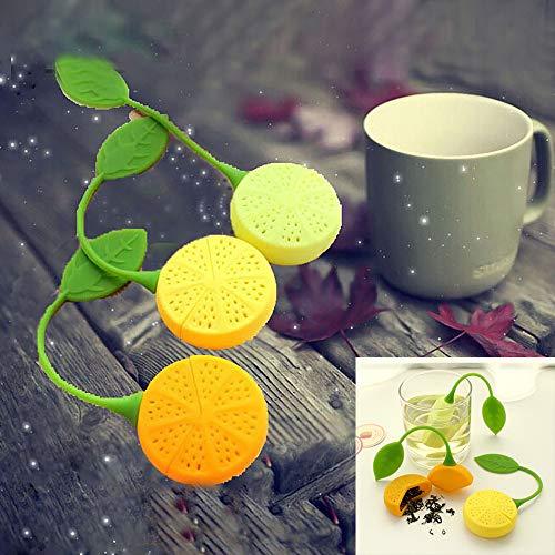 Tea Strainer Silicone Lemon Design Loose Tea Leaf Strainer Bag Herbal Spice Infuser Filter Tools