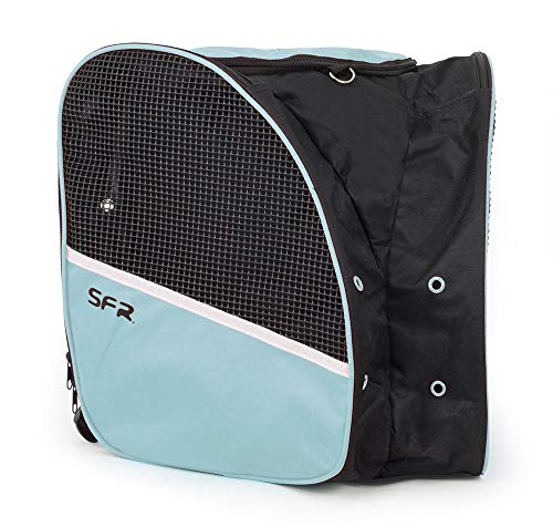 Sfr Skates Skate Backpack Bolsa para Patines Patinaje Infantil, Juventud Unisex, Multicolor (Black/Mint), Talla Única