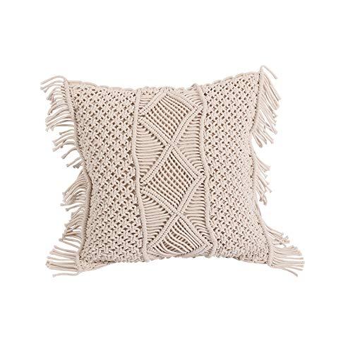 Gevlochten touw kwastje kussensloop met de hand geweven kussen kussen kussensloop woonkamer slaapkamer sofa decoratieve kussensloop,a