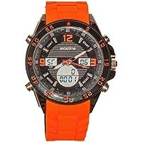 EXACTIME 11925 Naranja - Reloj Deportivo Resistente al Agua Unisex - Análogo/Digital