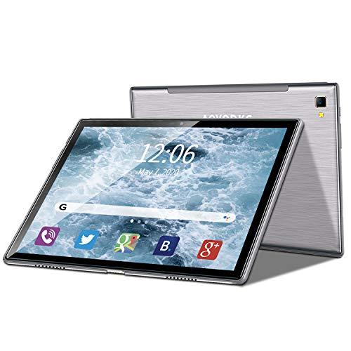 4G LTE Tablet 10 Zoll Android 9 Tablet PC 4GB RAM 64GB ROM / 256 GB Erweiterbar, Quad Core, FHD-IPS-Bildschirm,8000 mAh, Dual SIM, WiFi,Bluetooth, GPS, OTG, Typ C, 5 MP + 8 MP Doppelkamera Tablet Mit