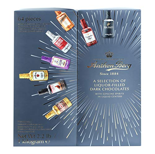 Anthon Berg - Chocolate Liqueurs - Famous Liqueur Brands - 64 bottles 1000g...