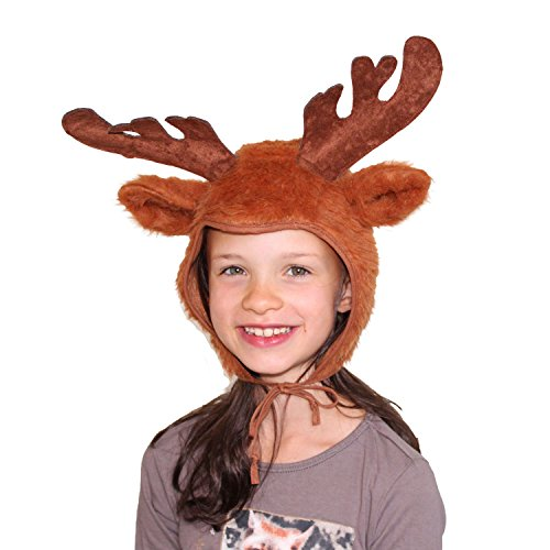 Niños Gorro Reno marrón cuento Corzo tocado Navidad Carnaval
