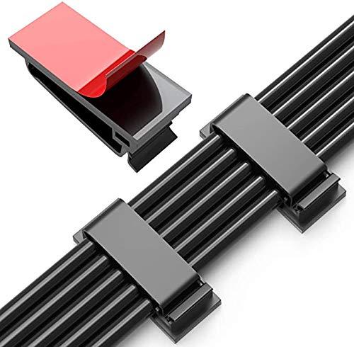 CYWVYNYT 50 clips adhesivos para cables, organizador de cables, para TV, PC,...