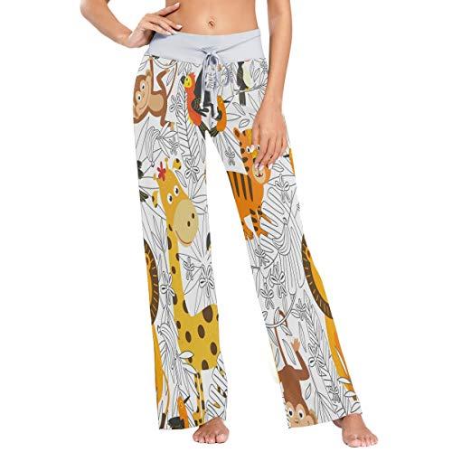 MNSRUU - Pantalones de pijama para mujer, diseño de jirafa