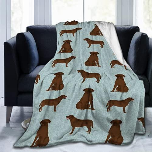 Labrador Retriever Chocolate Lab51 - Manta de microfibra ultrasuave para sofá
