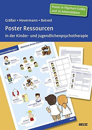 Poster Ressourcen in der Kinder- und Jugendlichenpsychotherapie: Mit 10 Arbeitsblättern in der Sammelmappe. Format Poster: 98 x 67 cm