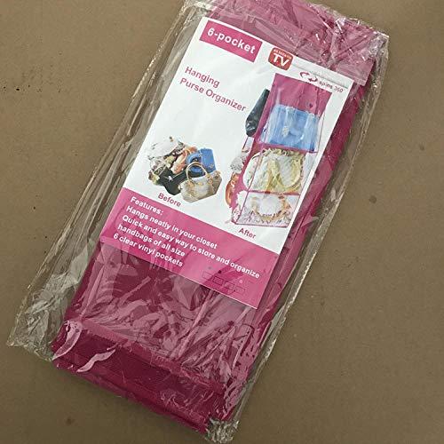 Opbergtas met 6 zakken voor het opbergen van een kast Stofdichte opbergtas Deur Muur Puin Schoenentas-rozet