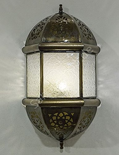 Saharashop Orientalische Wandlampe Kandil Weiß