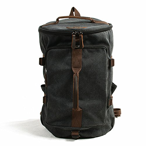 Mountaineering Backpack Backpack Canvas Shoulder Portable Reclining Multi-function Travel Crawling Leisure Sports Computer Bag Suitable For Outdoor Use Outdoor Hiking Backpack ( Color : Dark grey )