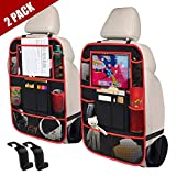 STELLAIRE CHERN Car Back Seat Organizer Kick Mats with 10' Touch Screen Tablet Holder, 9 Storage Pockets Seat...
