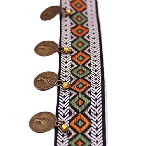 Yalulu 2 Yards Copper Tassel Lace Trim Bohemian Cotton Fabric Ribbon Fringe Drop Handmade Sewing Clothes Curtains DIY Accessories (#1)