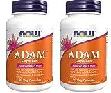 Now Foods: Adam Superior Men's Multiple Vitamin, 90 vcaps pack of 2
