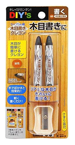 建築の友 かくれん棒 木目書きクレヨン 油性 ミディアム系 MGK-1