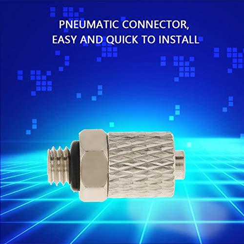 Conector macho de montaje de aire, conector de manguera de aire de 20 piezas, tubo neumático para equipo de unión de equipo neumático