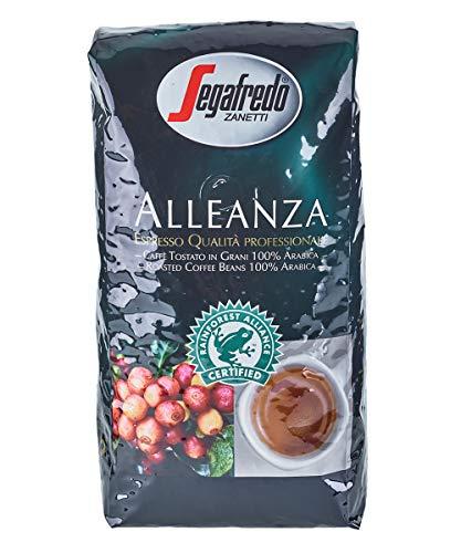 Segafredo Alleanza 1000g - 100% Arabica Bohnen - Kaffee von Rainforest Alliance zertifizierten Farmen