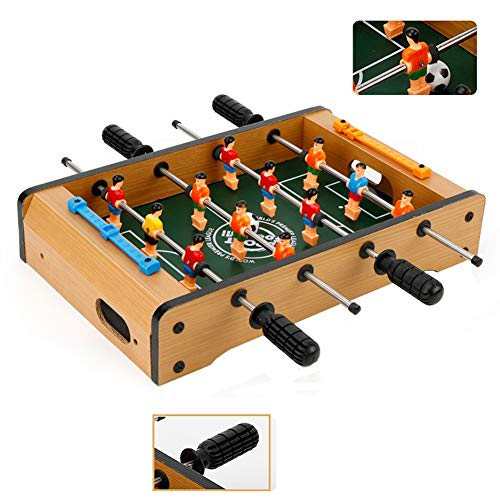 Lowest Prices! ZJM Wooden Competition Soccer Game Table, Home Game Room Toys Mini Soccer Table for T...