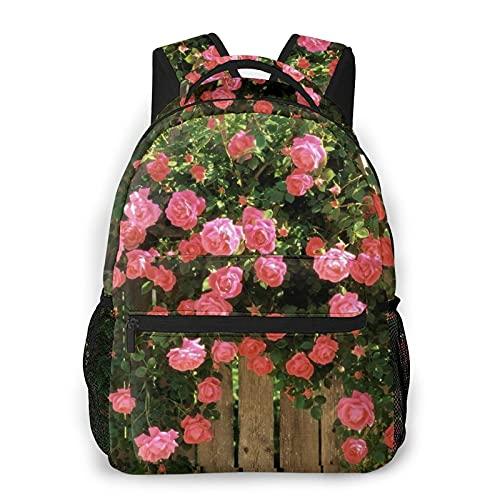"AMIGGOO Lässiger Rucksack,Holzzaun, Rosengartenrebe,Travel Bookbag With Zipper,For Business, School, Work, Laptop Bookbag 16\""X11.5\""X8\"""