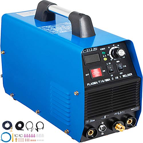 Mophorn TIG/MMA Plasma Cutter CT312 3 in 1 Combo Welding Machine Tig Welder 120A Arc Welder 120A Plasma Cutter 30A Plasma Cutting Machine Dual Voltage 110 220V