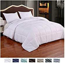 Homelike Moment Reversible Lightweight Comforter - All Season Down Alternative Comforter King Summer Duvet Insert White Quilted Bed Comforters with Corner Tabs King Size White