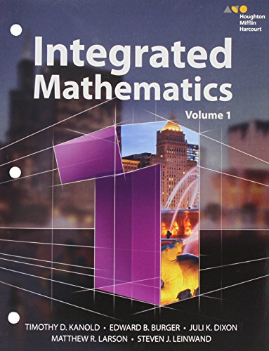 HMH Integrated Math 1: Interactive Student Edition Volume 1 (consumable) 2015