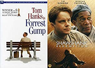 Who Said Academy Award Winning 90's Dramas? Forrest Gump ( Special 2 Disc Collector's Edition) + Shawshank Redemption 2 Dvd Bundle