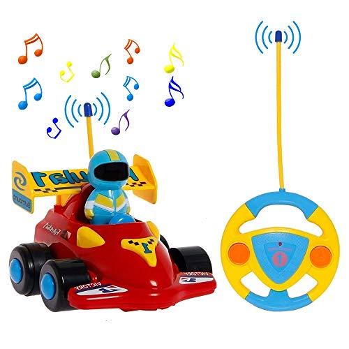 PowerLead Rennauto Ferngesteuertes auto für Kleinkinder Ferngesteuertes Spielzeug mit Musik